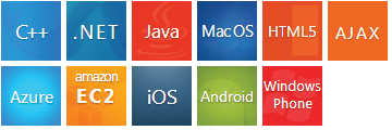 C++, .Net, Java, MacOS, HTML5, AJAX, Azure, Amazon EC2, iOS, Android, Windows Phone